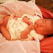 SuGuNeでスヤスヤ寝ている赤ちゃん